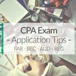 cpa exam application tips