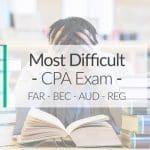 Hardest CPA Exam Part