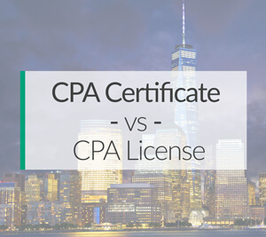 CPA certificate vs CPA License