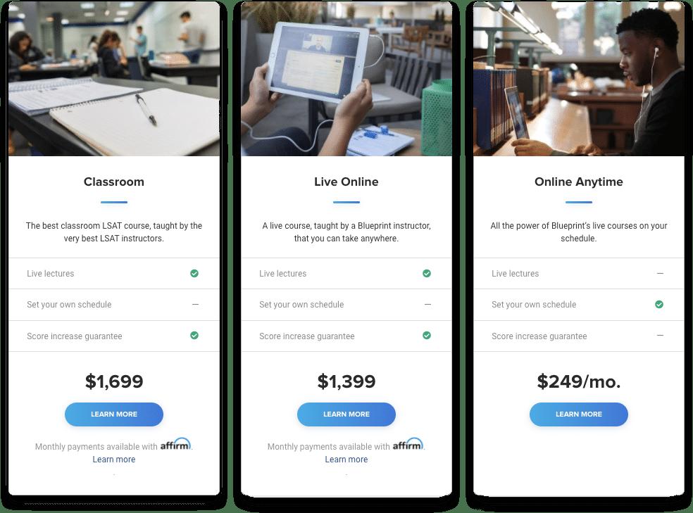 Blueprint LSAT Pricing