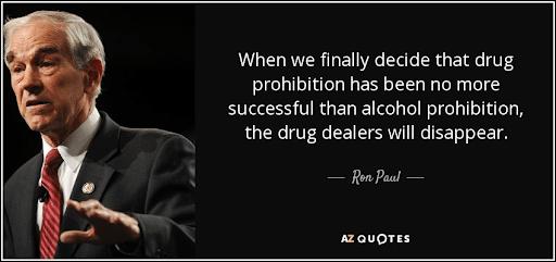 Marijuana Tax Revenue - Ron Paul Quote