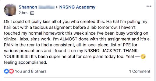 Nursing.com HESI Facebook Review